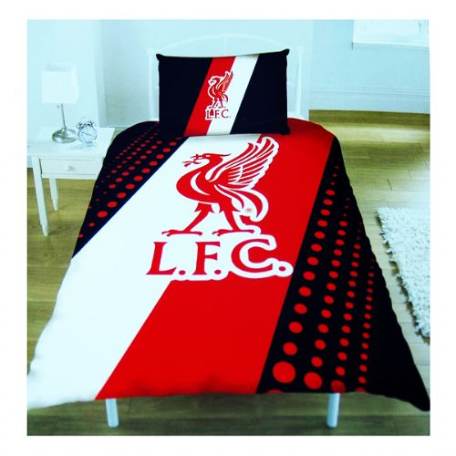 LIVERPOOL FOOTBALL CLUB SINGLE SIZE PANEL DUVET COVER BEDDING SET